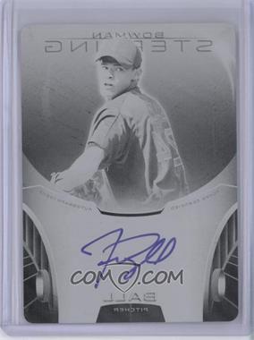 2013 Bowman Sterling - Prospect Certified Autographs - Printing Plate Black #BSAP-TB - Trey Ball /1
