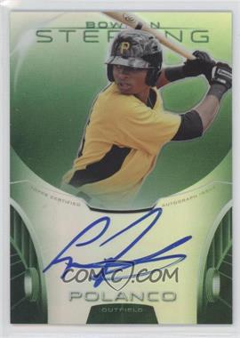 2013 Bowman Sterling Prospect Certified Autographs Green Refractors #BSAP-GP - Gregory Polanco /125