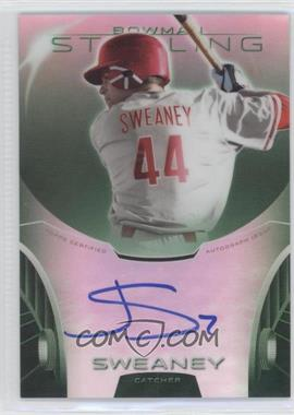 2013 Bowman Sterling Prospect Certified Autographs Green Refractors #BSAP-JSW - Jake Sweaney /125