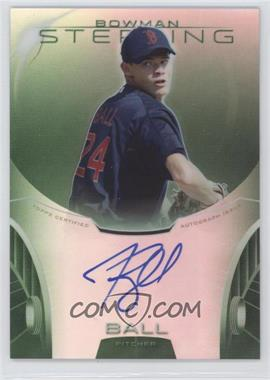 2013 Bowman Sterling Prospect Certified Autographs Green Refractors #BSAP-TB - Trey Ball /125