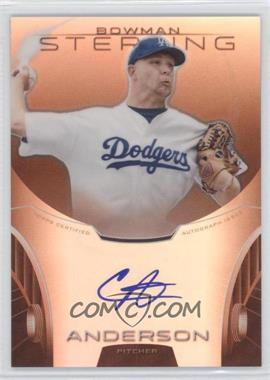 2013 Bowman Sterling Prospect Certified Autographs Orange Refractors #BSAP-CA - Chris Anderson /75