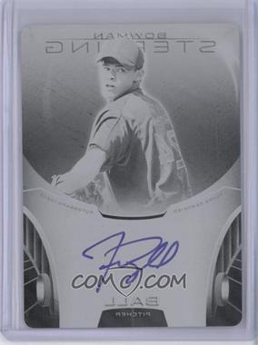 2013 Bowman Sterling Prospect Certified Autographs Printing Plate Black #BSAP-TB - Trey Ball /1
