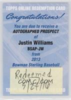 Justin Williams /150 [REDEMPTIONBeingRedeemed]