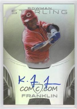 2013 Bowman Sterling Prospect Certified Autographs Refractors #BSAP-KF - Kevin Franklin /150