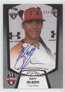2013 Bowman Under Armour All-American Certified Autographs #UA-MO - Matt Olson /225