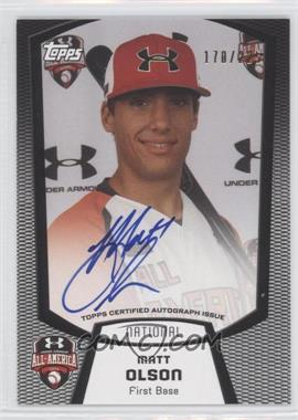2013 Bowman Under Armour All-American Certified Autographs #UA-MO - Matt Olson /225