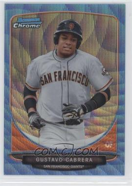2013 Bowman Wrapper Redemption Prospects Chrome Blue Wave Refractor #BCP136 - Gustavo Cabrera