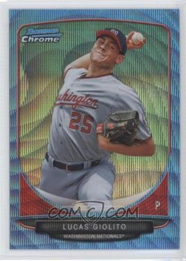 2013 Bowman Wrapper Redemption Prospects Chrome Blue Wave Refractor #BCP5 - Lucas Giolito