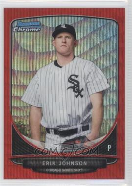 2013 Bowman Wrapper Redemption Prospects Chrome Red Wave Refractor #BCP122 - Erik Johnson /25