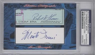 2013 Historic Autographs Five Boroughs Cut Autographs #NoN - Bobby Thompson, Monte Irvin /50 [PSA/DNA Certified Auto]