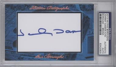 2013 Historic Autographs Five Boroughs Cut Autographs #NoN - Johnny Damon /40 [PSA/DNA Certified Auto]