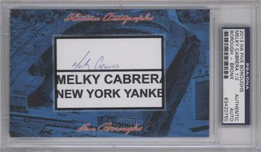 2013 Historic Autographs Five Boroughs Cut Autographs #NoN - Melky Cabrera /2 [PSA/DNA Certified Auto]