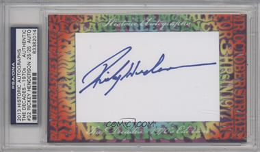 2013 Historic Autographs The Decades - 1970s Edition - Framed Cut Autographs #32 - Rickey Henderson /25 [PSA/DNA Certified Auto]