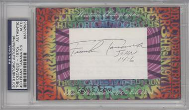 2013 Historic Autographs The Decades - 1970s Edition - Framed Cut Autographs #90 - Frank Tanana /6 [PSA/DNA Certified Auto]