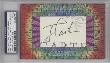 2013 Historic Autographs The Decades - 1970s Edition - Framed Cut Autographs #JICA - Jimmy Carter /8 [PSA/DNA Certified Auto]