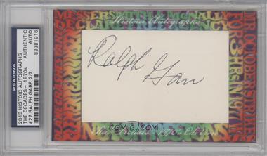 2013 Historic Autographs The Decades - 1970s Edition Framed Cut Autographs #27 - Ralph Garr /7 [PSA/DNACertifiedAuto]
