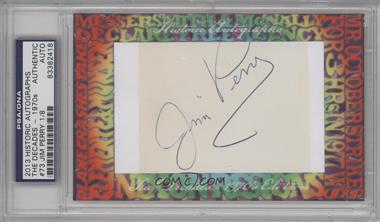2013 Historic Autographs The Decades - 1970s Edition Framed Cut Autographs #73 - Jim Perry /8 [PSA/DNA Certified Auto]