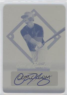 2013 Leaf Best of Baseball Printing Plate Yellow Autographs [Autographed] #N/A - Carson Kelly /1
