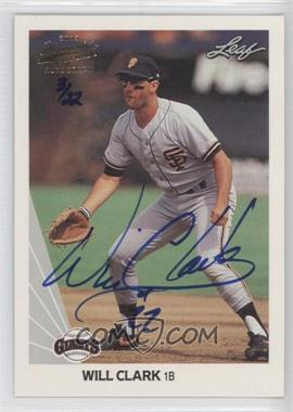 2013 Leaf Memories 1990 Leaf Buyback Autographs #172 - Will Clark /22