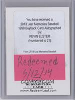 Kevin Elster /21 [REDEMPTION Being Redeemed]