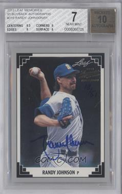 2013 Leaf Memories 1991 Leaf Buyback Autographs #319 - Randy Johnson /51 [BGS 7]