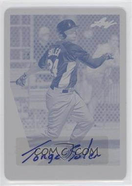 2013 Leaf Memories Autographs Printing Plate Cyan #1 - Jorge Soler /1