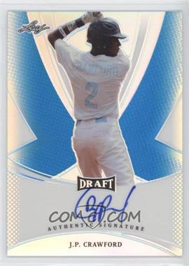 2013 Leaf Metal Draft Blue Prismatic #BA-JPC - J.P. Crawford /15
