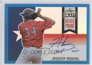 2013 Leaf Metal Draft State Pride Blue #SP-HD1 - Hunter Dozier /15
