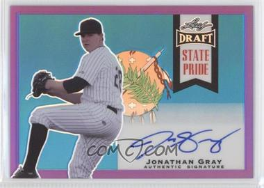 2013 Leaf Metal Draft State Pride Purple #SP-JG1 - Jonathan Gray /25