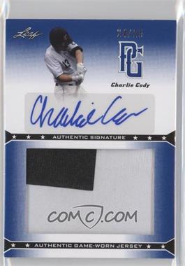 2013 Leaf Perfect Game Showcase - Jersey Autographs - Blue #JA-CC1 - Charlie Cody /25