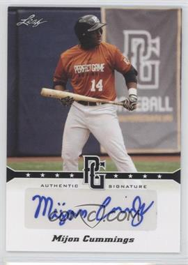 2013 Leaf Perfect Game Showcase Autographs #A-MC4 - Mijon Cummings