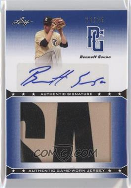 2013 Leaf Perfect Game Showcase Jersey Autographs Blue #JA-2 - Bennett Sousa /25