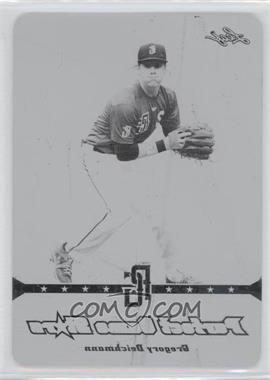 2013 Leaf Perfect Game Showcase Stars Printing Plate Black #PGS-1 - Gregory Deichmann /1