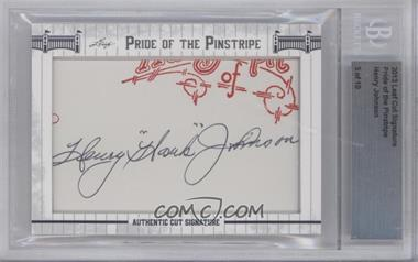 2013 Leaf Pride of the Pinstripe Cut Signatures - [Base] #HEJO - Henry Johnson /10 [ENCASED]