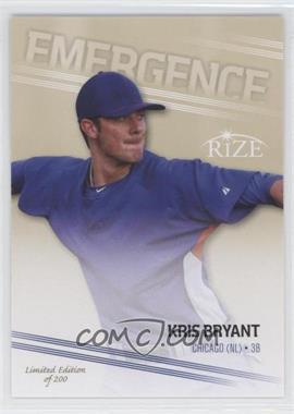 2013 Leaf Rize Emergence Gold #EM-2 - Kris Bryant /200