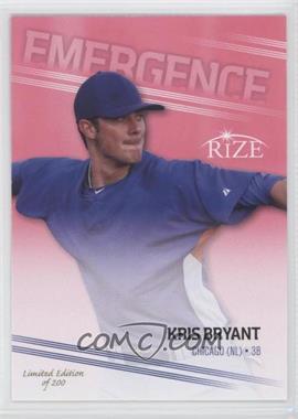 2013 Leaf Rize Emergence Pink #PR-2 - Kris Bryant /200