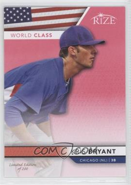 2013 Leaf Rize World Class Pink #WC-2 - Kris Bryant /200