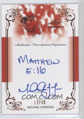 2013 Leaf Trinity - Inscription Autographs #DTI-ML1 - Michael Lorenzen /30
