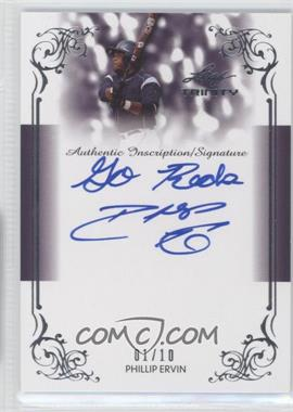 2013 Leaf Trinity Inscription Autographs Silver #DTI-PE1 - Phillip Ervin /10