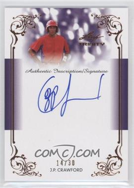 2013 Leaf Trinity Inscription Autographs #DTI-JPC - J.P. Crawford /30