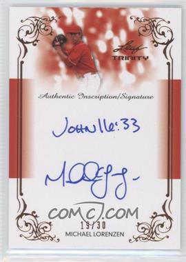 2013 Leaf Trinity Inscription Autographs #DTI-ML1 - Michael Lorenzen /30