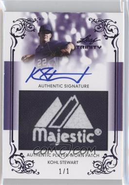 2013 Leaf Trinity Patch Autographs Purple #DTP-KS1 - Kohl Stewart /1