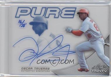 2013 Leaf Trinity Pure Autographs Blue #P-OT1 - Oscar Taveras /25