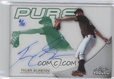 2013 Leaf Trinity Pure Autographs Green #P-TG1 - Tyler Glasnow /10