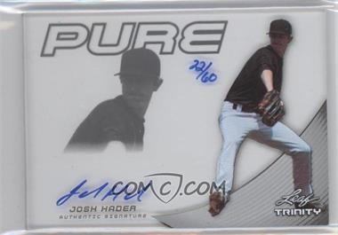 2013 Leaf Trinity Pure Autographs Silver #P-JH1 - [Missing] /60