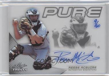 2013 Leaf Trinity Pure Autographs Silver #P-RMG - Reese McGuire /60