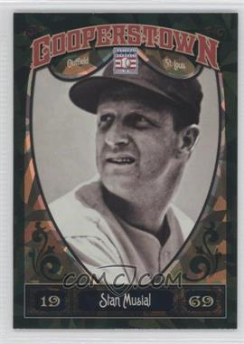 2013 Panini Cooperstown Collection - [Base] - Green Crystal Shard #56 - Stan Musial