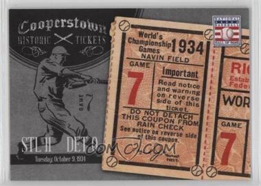 2013 Panini Cooperstown Collection - Historic Tickets #10 - 1934 World Series