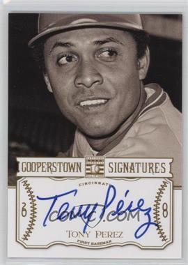 2013 Panini Cooperstown Collection Cooperstown Signatures #HOF-TNY - Tony Perez /300