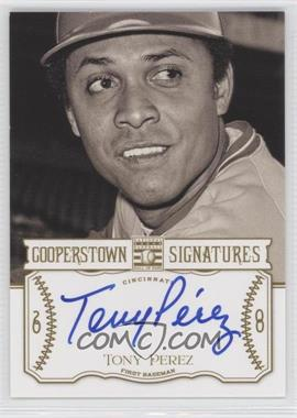 2013 Panini Cooperstown Collection Cooperstown Signatures #HOF-TNY - Tony Perez /390